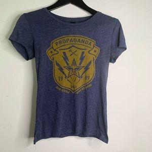 Obey Blue Women's Small Propaganda T-Shirt